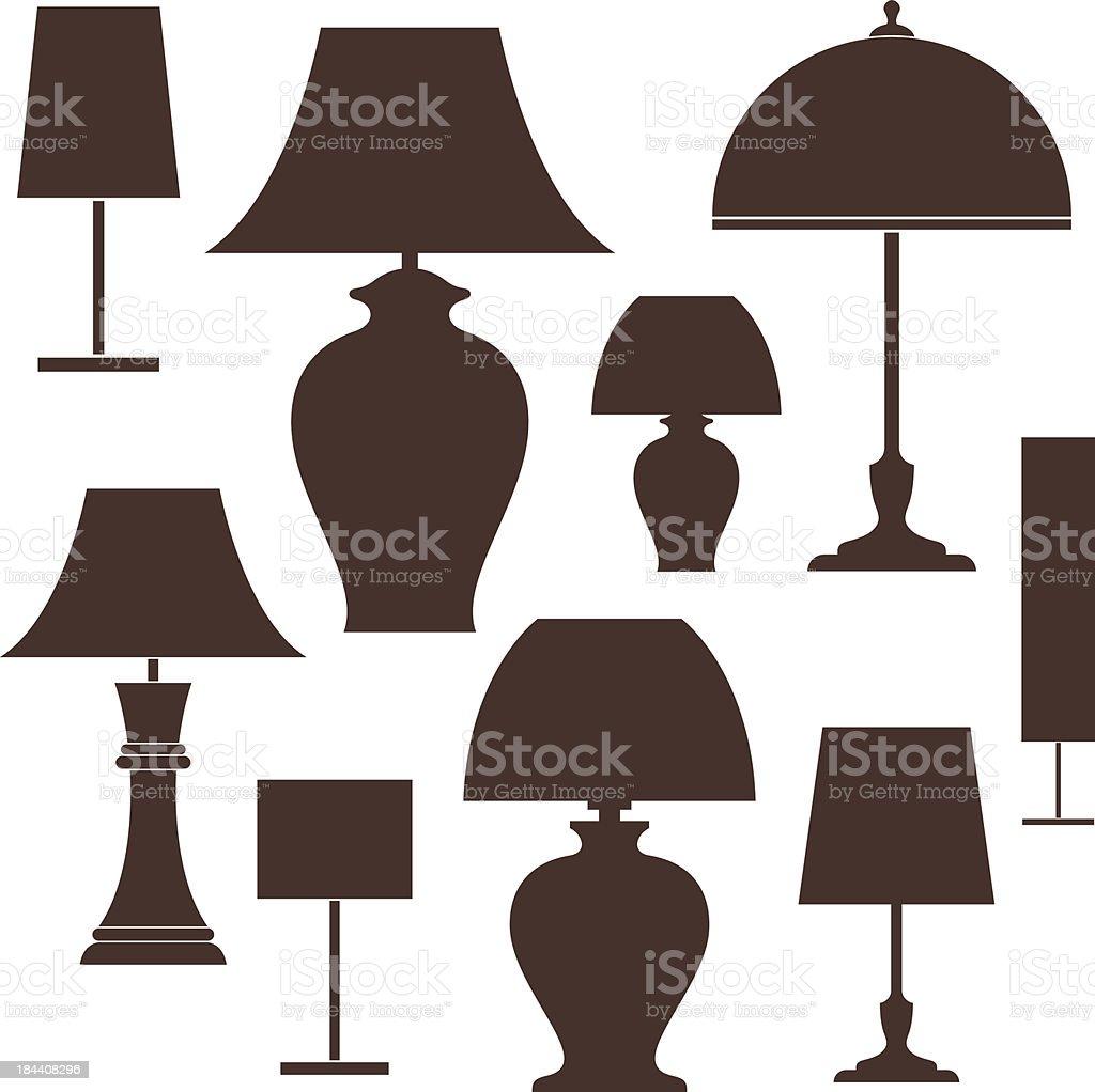 Lamp vector art illustration