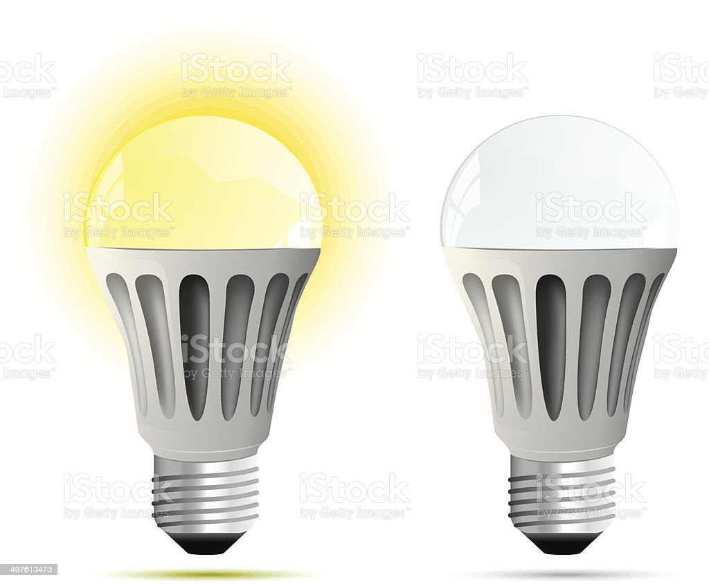 LED lamp. Vector illustration vector art illustration