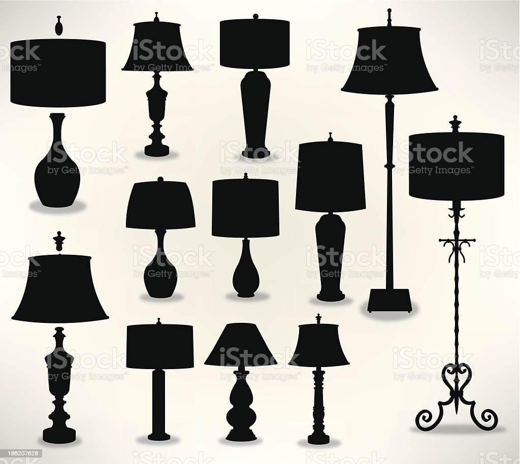 Lamps - Home Decor, Mix and Match vector art illustration