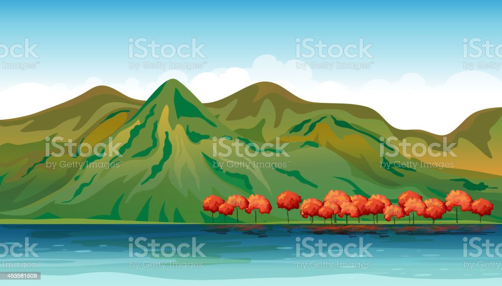 Land and water resources royalty-free stock vector art