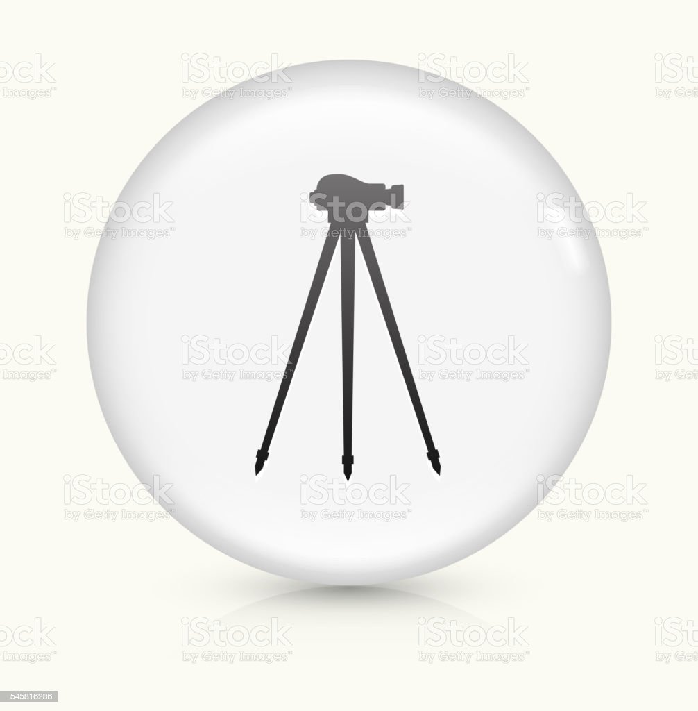 Land Surveying Equipment icon on white round vector button vector art illustration