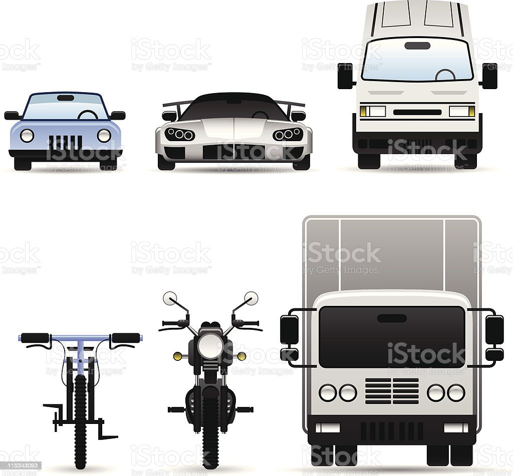 Land Vehicle Icon vector art illustration