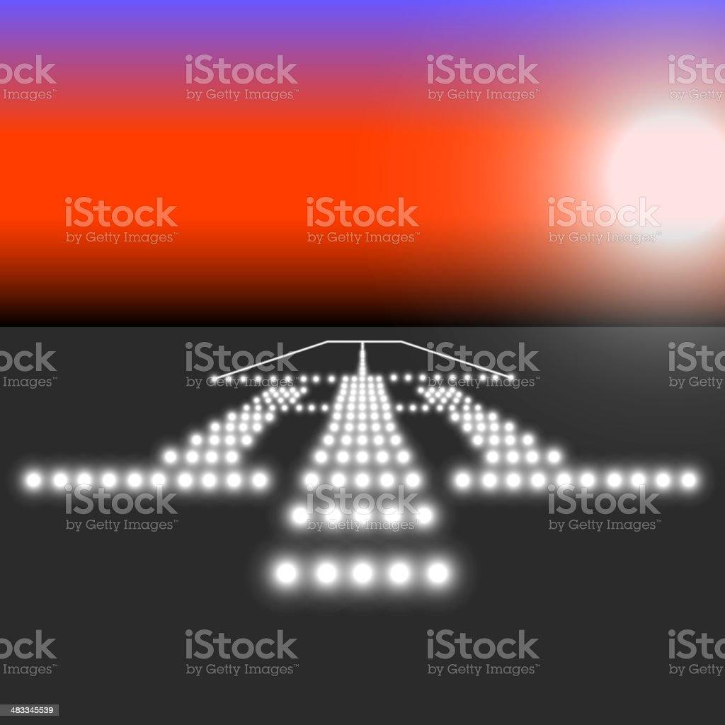 Landing lights. Vector illustration. royalty-free stock vector art