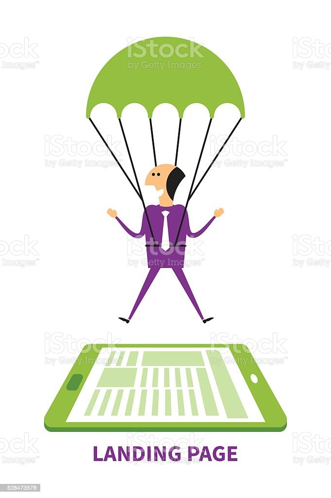 Landing page vector concept in flat style vector art illustration