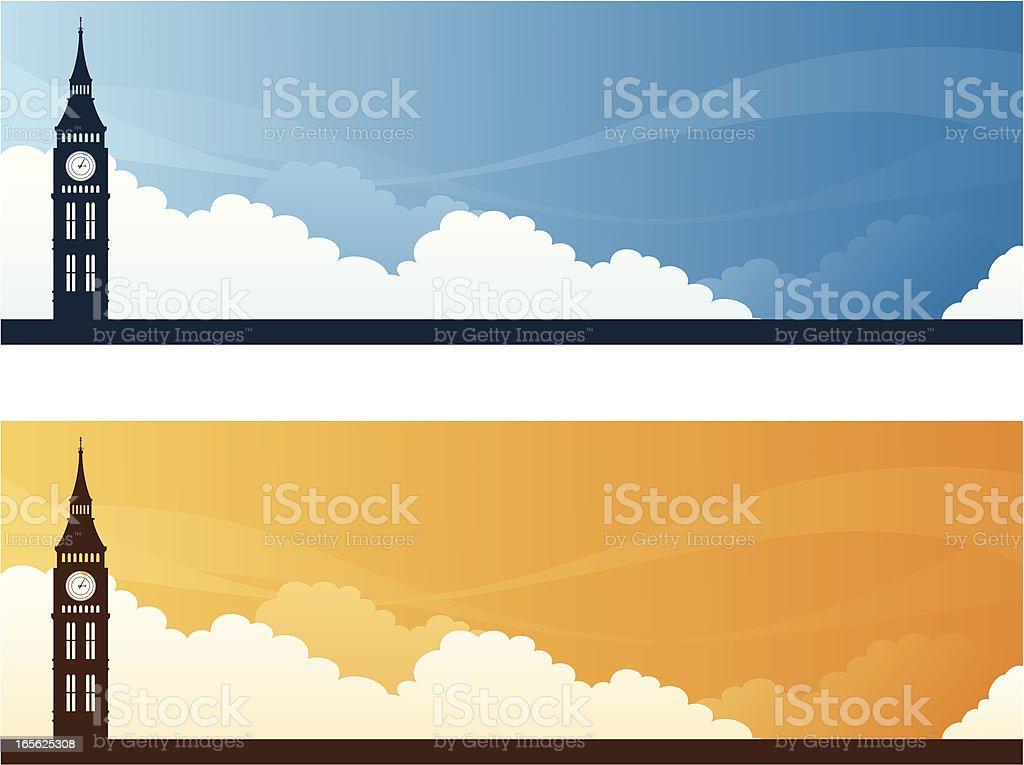 Landmark Banners - London royalty-free stock vector art