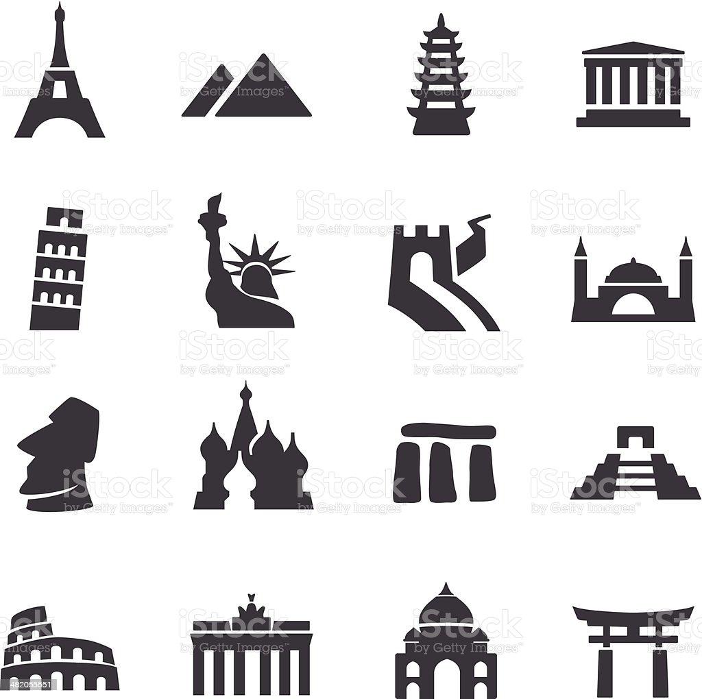 Landmark Icons - Acme Series vector art illustration