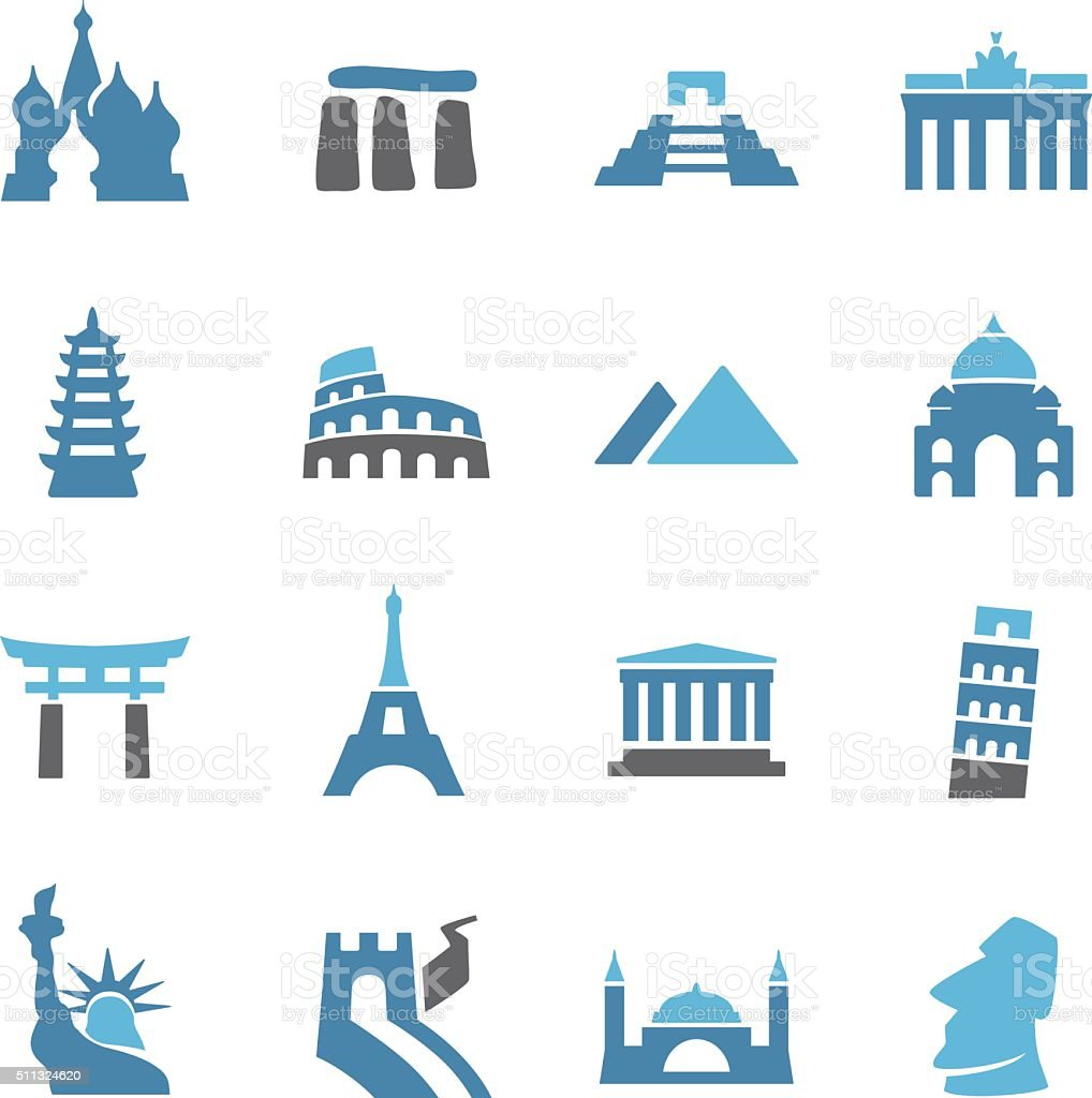 Landmark Icons - Conc Series vector art illustration