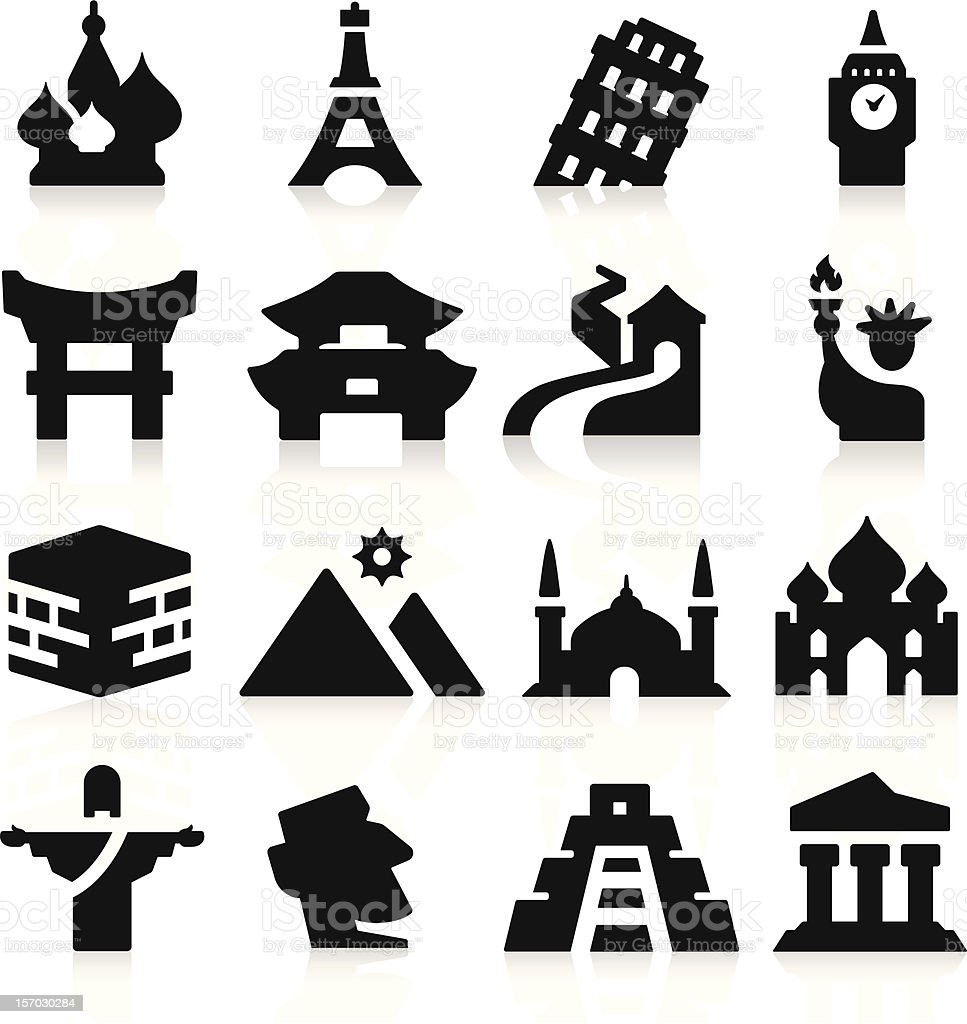 Landmarks Two Icons vector art illustration