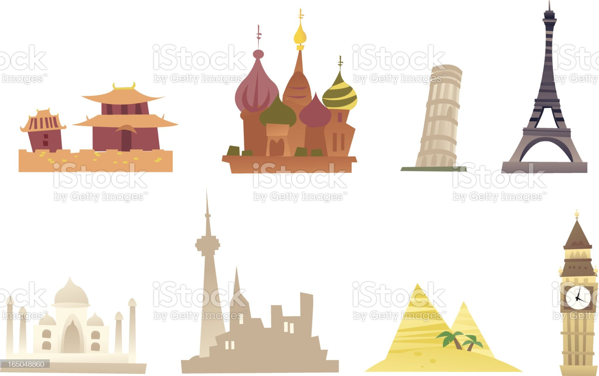 landmarks royalty-free stock vector art