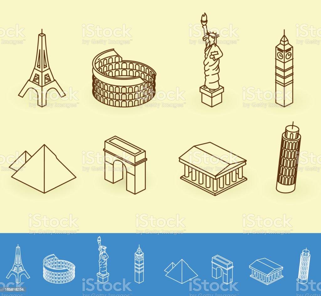 landmarks vector art illustration