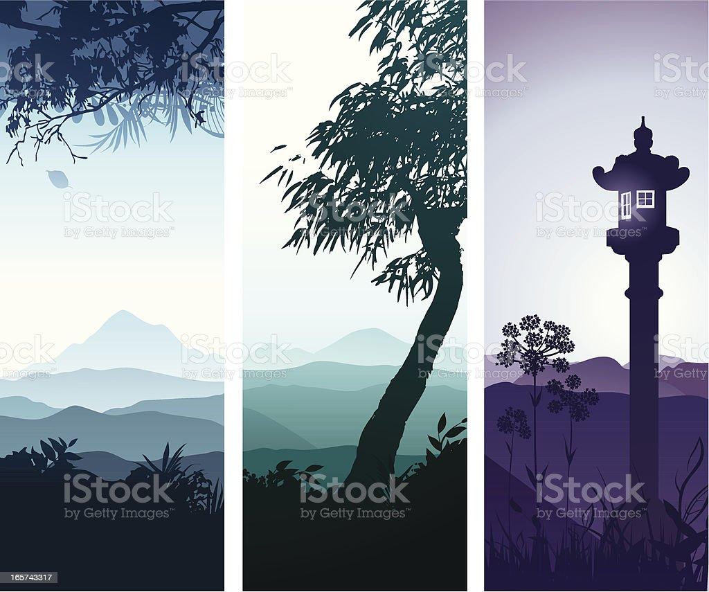 Landscape banners vector art illustration