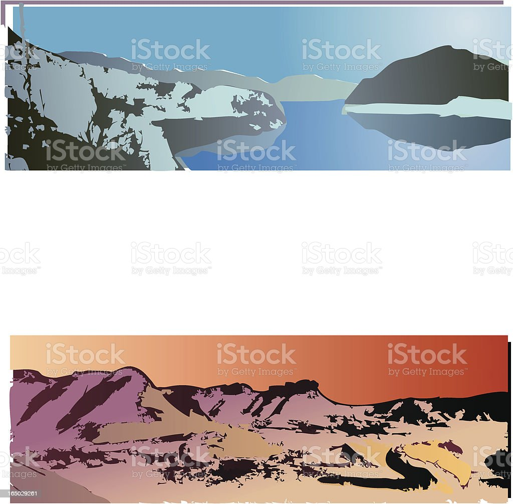 Landscape collection 03 royalty-free stock vector art