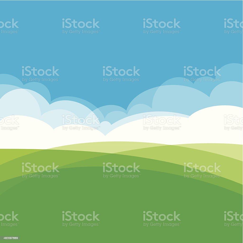 Landscape design background royalty-free stock vector art