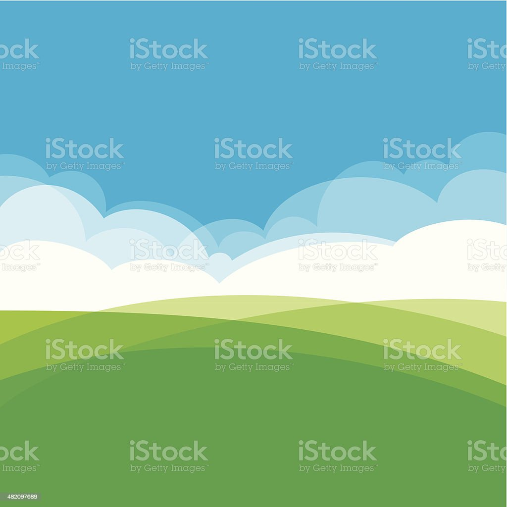 Landscape design background vector art illustration