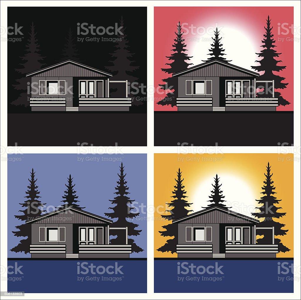 Landscape houses theme vector royalty-free stock vector art