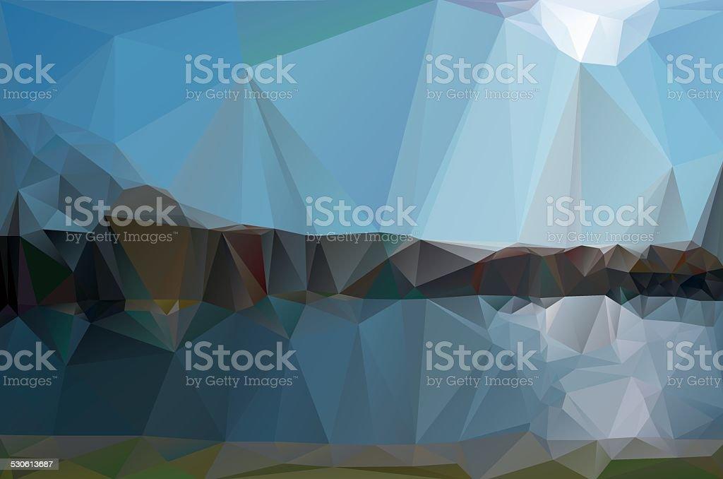 landscape in a minimalist style. vector art illustration