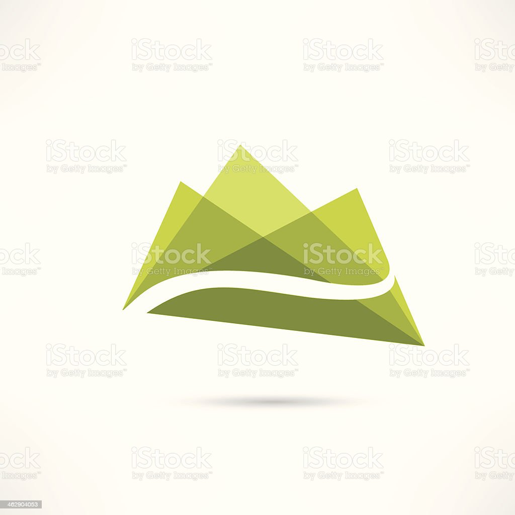 landscape in the mountains icon vector art illustration