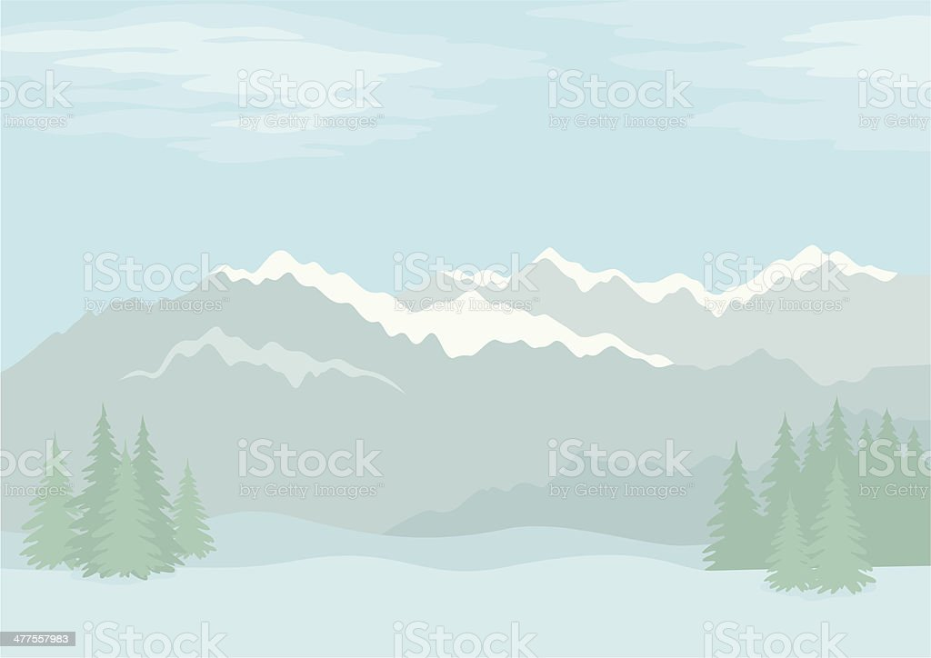Landscape, mountains royalty-free stock vector art