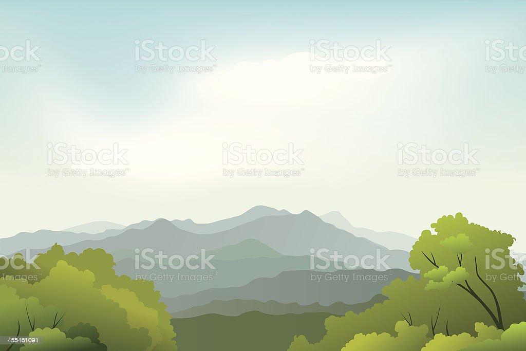 Landscape of beauty nature Background vector art illustration