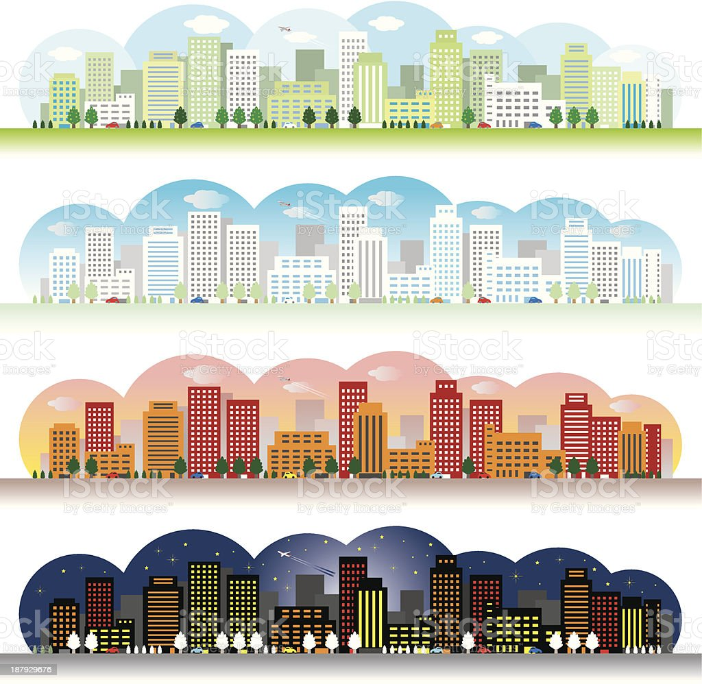 Landscape of the city royalty-free stock vector art