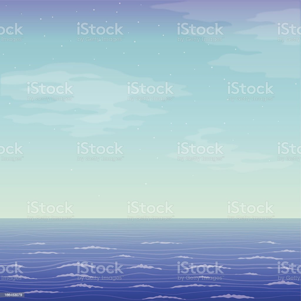 Landscape, sea and sky royalty-free stock vector art