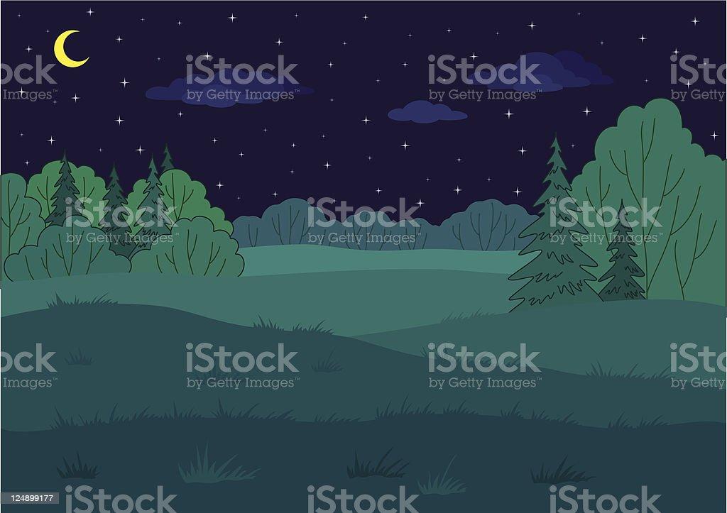 Landscape, summer forest glade royalty-free stock vector art
