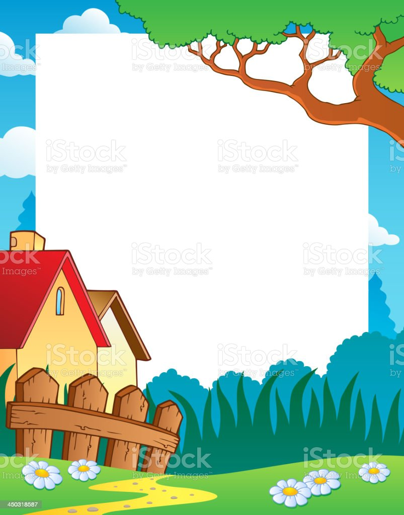 Landscape theme frame 1 royalty-free stock vector art