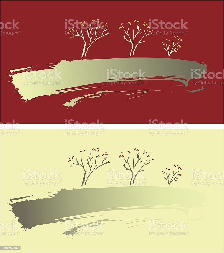 Landscape, Tree, Nature royalty-free stock vector art