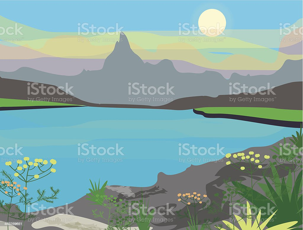 Landscape royalty-free stock vector art