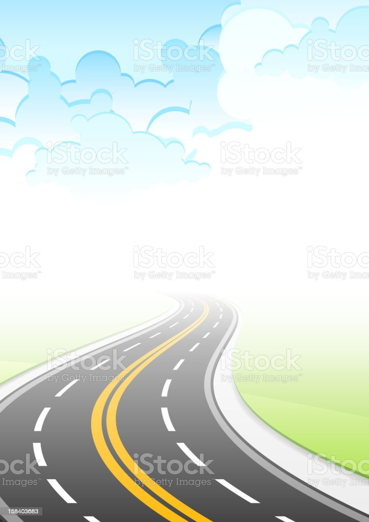 Landscape with highway royalty-free stock vector art