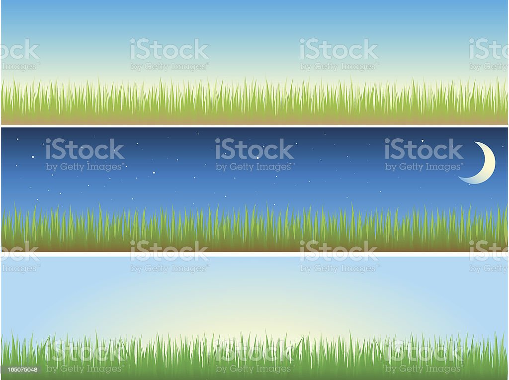 Landscapes royalty-free stock vector art