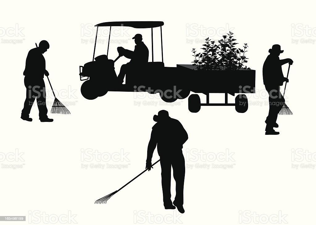 Landscaping Vector Silhouette royalty-free stock vector art
