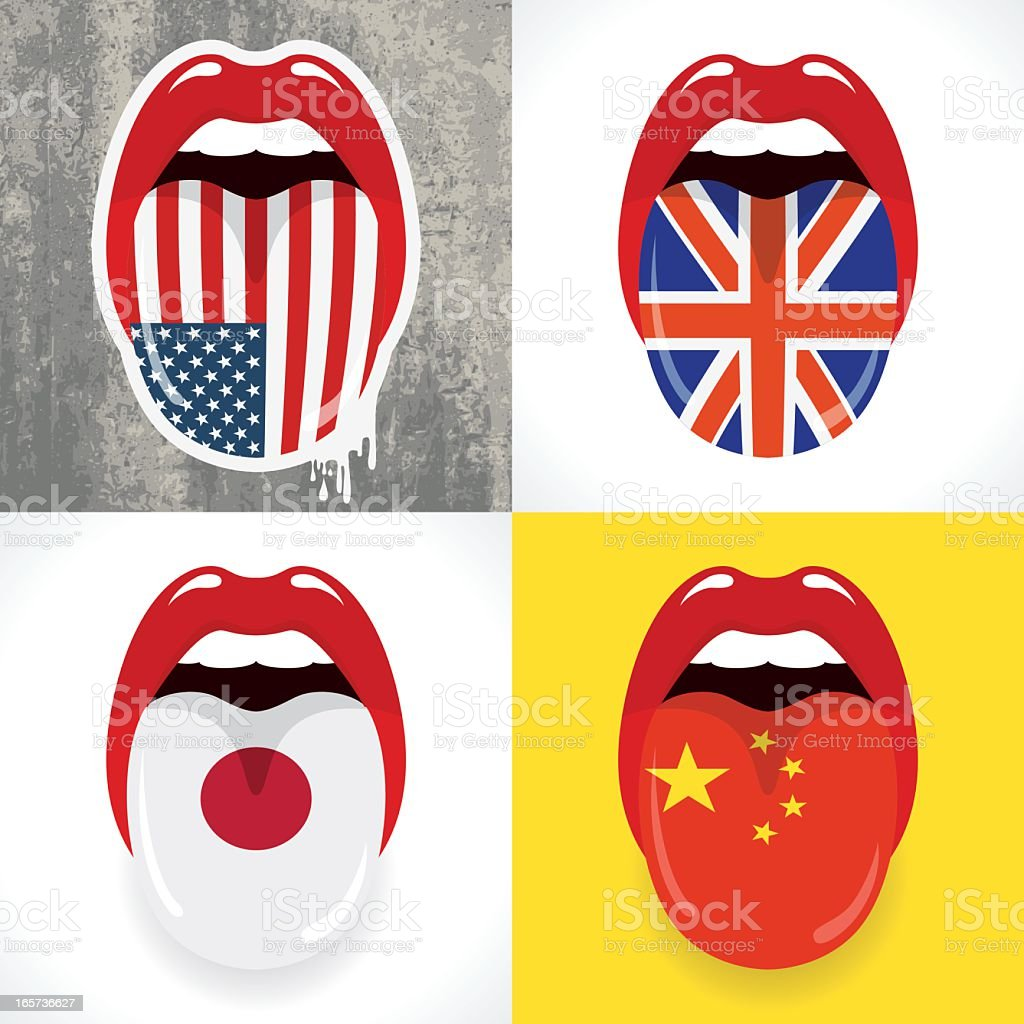 Languages concept vector art illustration