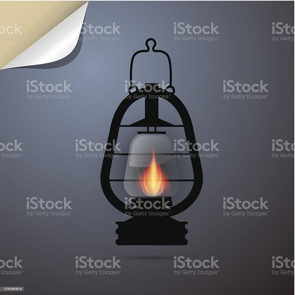 Lantern, Gas Lamp Illustration royalty-free stock vector art
