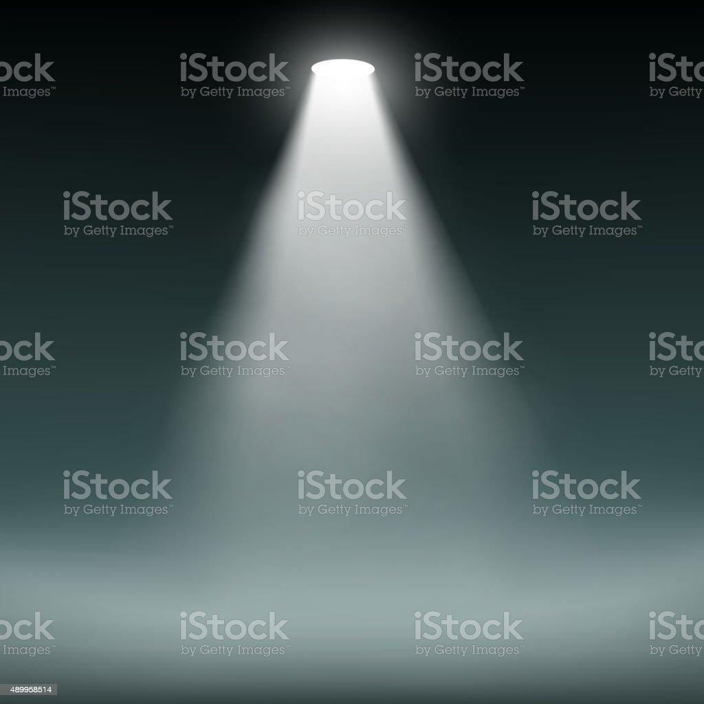 Lantern illuminates the dark background. vector art illustration
