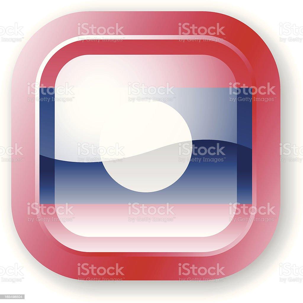 Laos Flag Icon royalty-free stock vector art