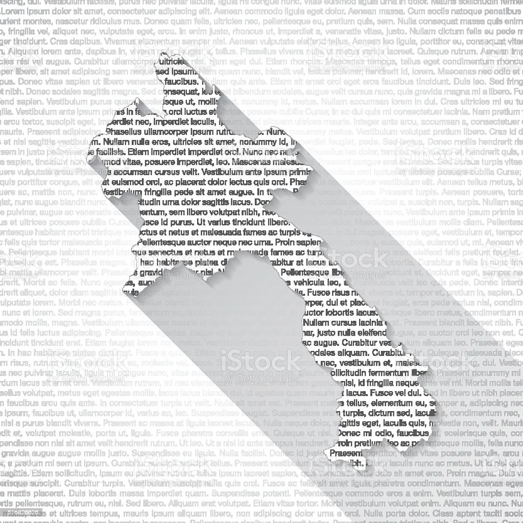 Laos Map on Text Background - Long Shadow vector art illustration