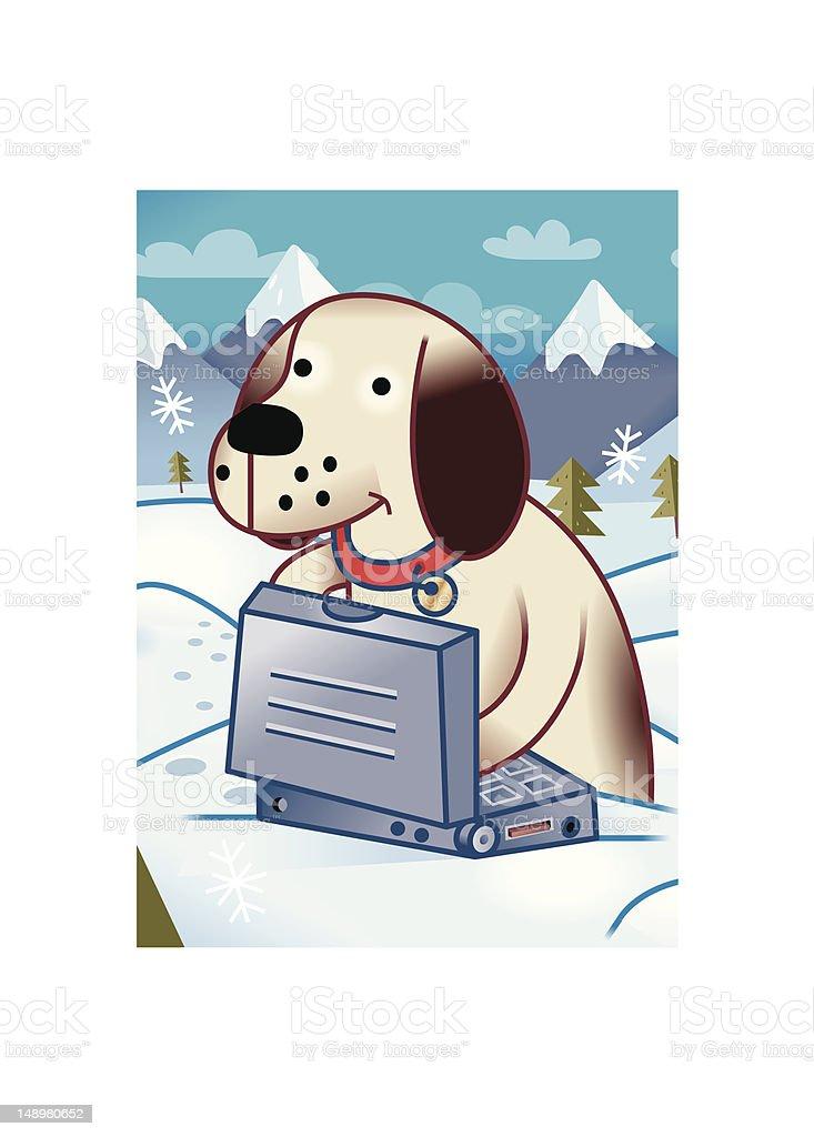 Lap Dog vector art illustration