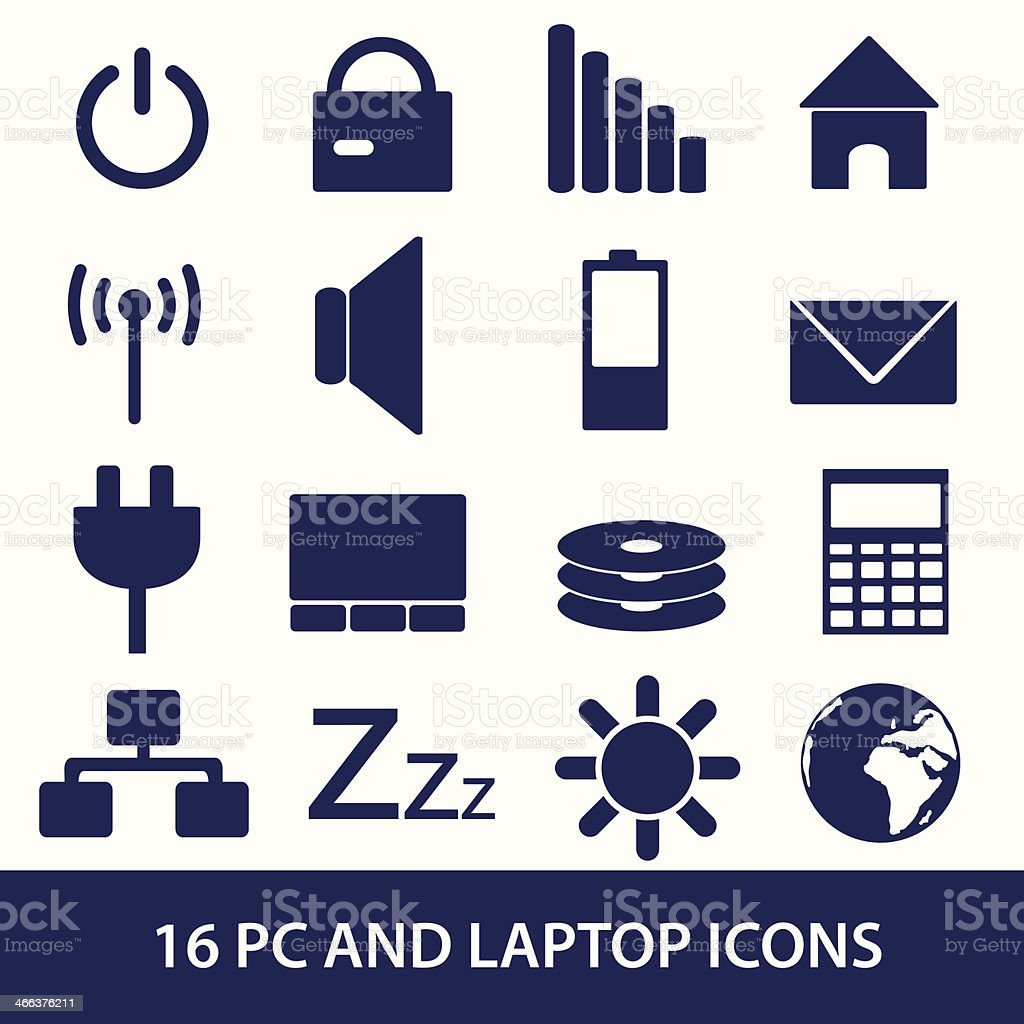 laptop and pc indication icons eps10 royalty-free stock vector art