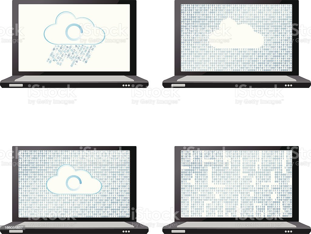 Laptop cloud concept royalty-free stock vector art