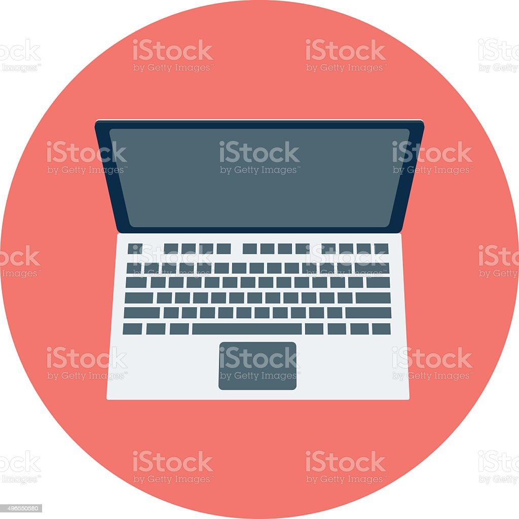 Laptop Colored Vector Illustration vector art illustration