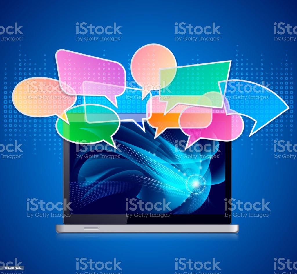 Laptop Communication royalty-free stock vector art