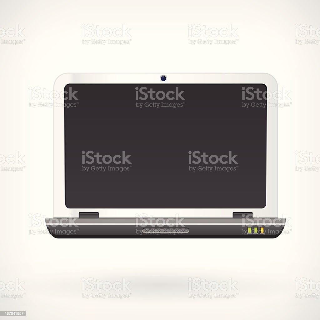 Laptop computer vector icon royalty-free stock vector art