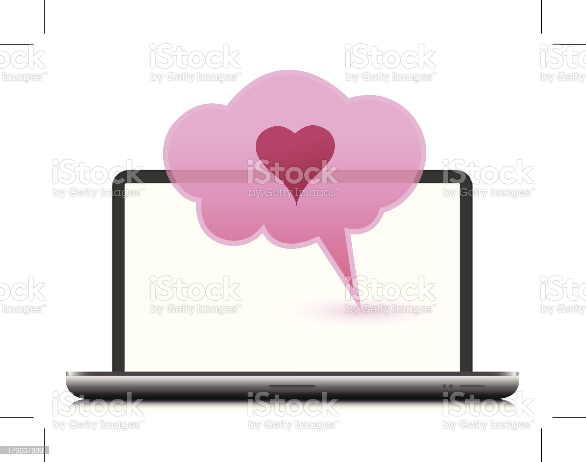 laptop computer royalty-free stock vector art