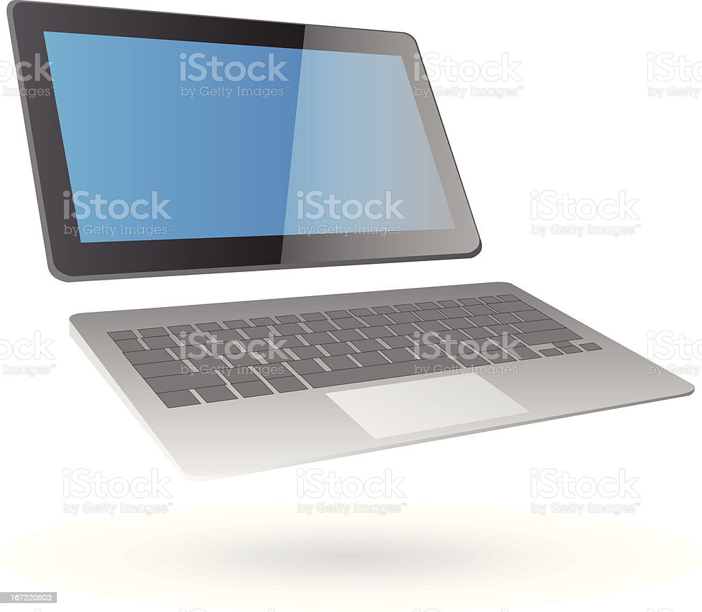 Laptop Computer Vector Illustration. royalty-free stock vector art