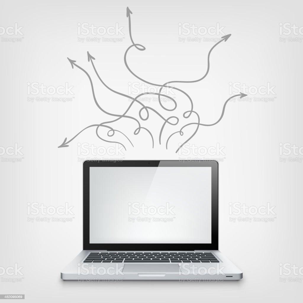 Laptop Concept royalty-free stock vector art