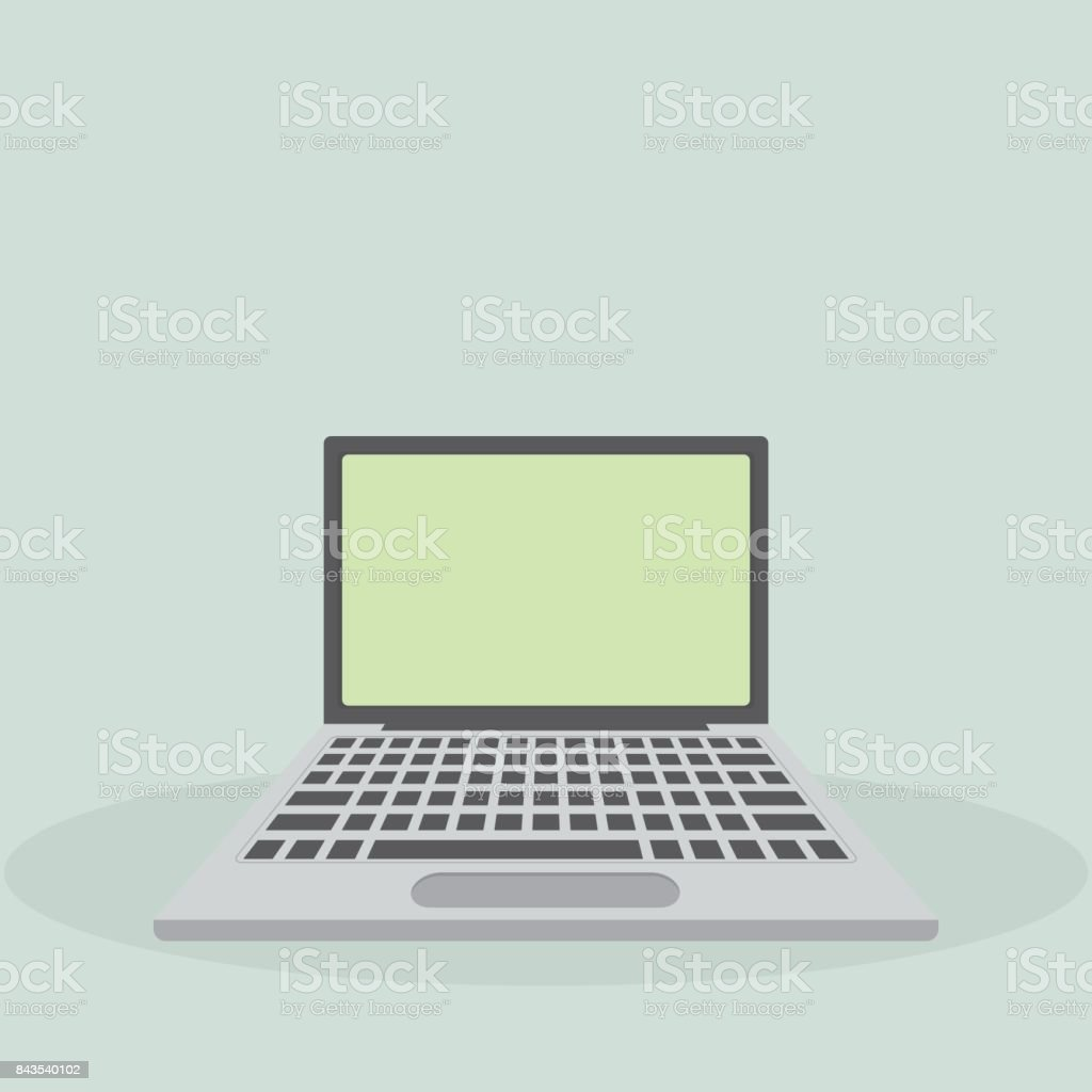 Laptop flat icon computer symbol vector illustration eps10 stock computer symbol vector illustration eps10 royalty free stock biocorpaavc