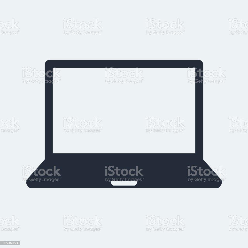 Laptop Flat Icon vector art illustration