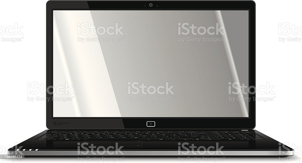 Laptop Frontal View royalty-free stock vector art