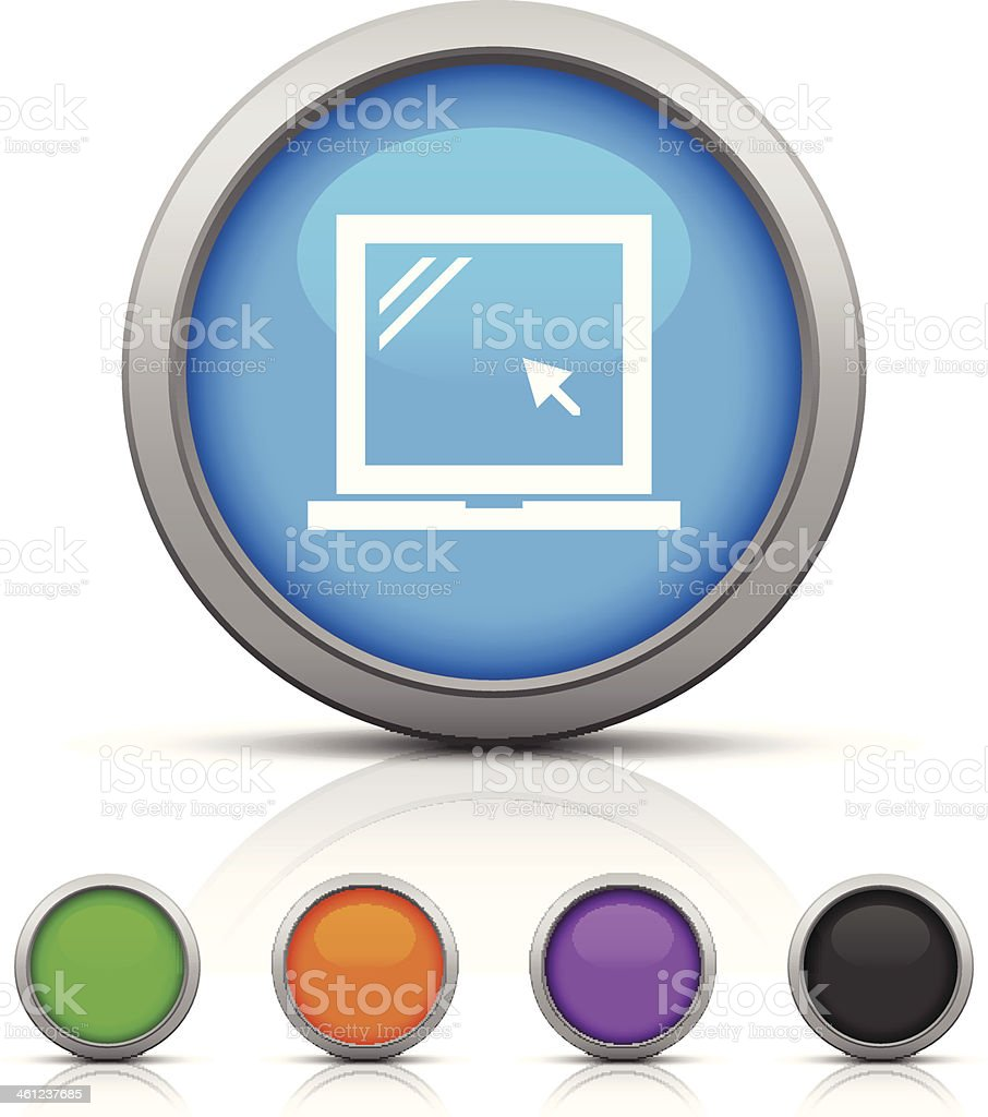 Laptop icon royalty-free stock vector art